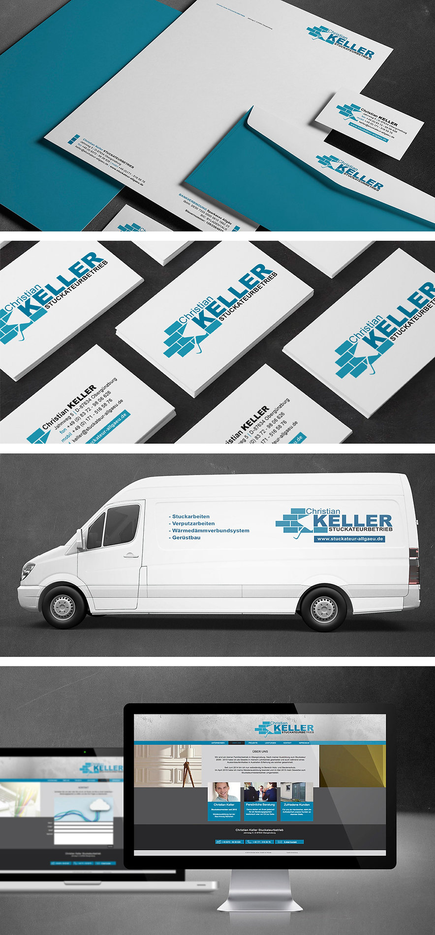 Corporate Design Stuckateurbetrieb Keller