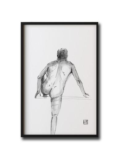 Akzeichnung Mann