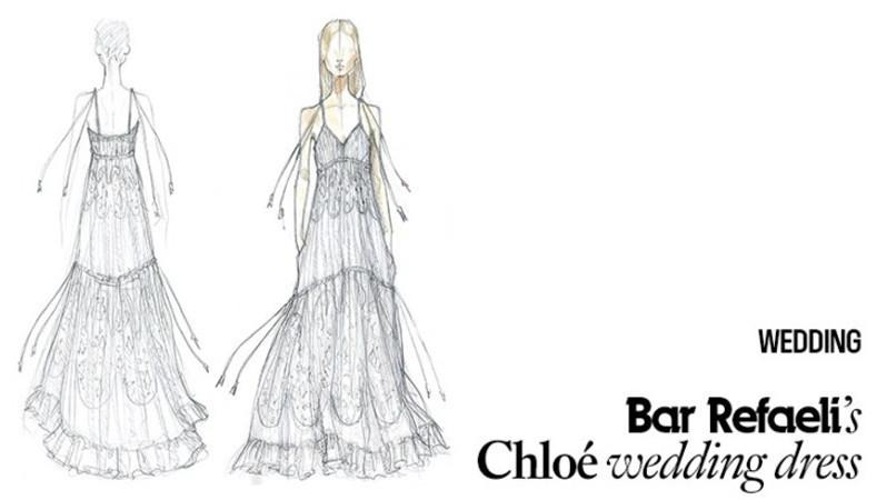 Bar Refaeli wedding dress by Chloè