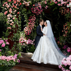 Miranda Kerr, sposa in Dior