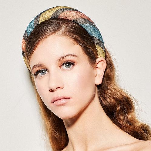 SARA lurex headband stripes