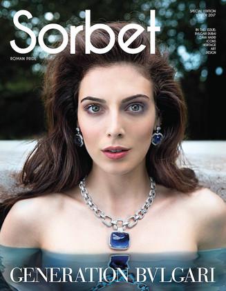 SORBET Magazine Actress RAZANE JAMMAL Photo LORENZO MARCUCCI Style LEONARDO PERSICO Makeup MARA CIFRONTI Hair ELISA RAMPI