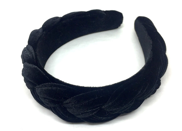 BRAIDED Velvet black