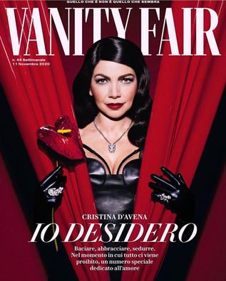 VANITY FAIR Italia  Starring CRISTINA D'AVENA Photo NIMA BENATI Styled by GAIA Makeup PATRIZIA DEL CURATOLO Hair ELISA RAMPI