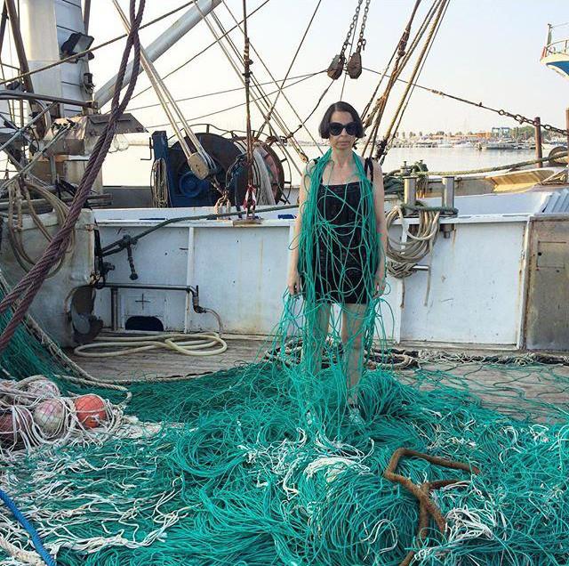la stylist Sabrina Mellace in uno dei suoi famosi scatti per Instagram