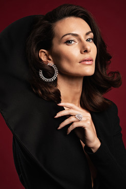 PAOLA TURANI for MESSIKA Jewels  #ELISARAMPIHAIR #ELISARAMPIMAKEUP