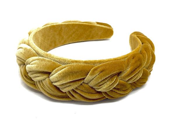 BRAIDED Velvet senape