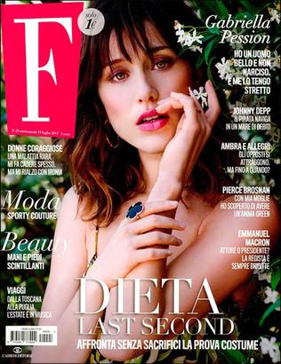 F Magazine Actress GABRIELLA PESSION Photo ROBERTA KRASNIG Hair ELISA RAMPI