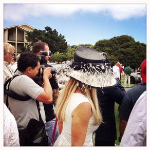Pebble Beach dress code..Hat !