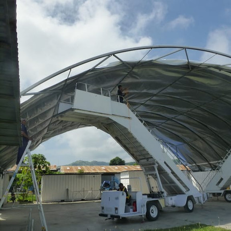When a Storm Destroys the MAF Hangar Cover in Timor-Leste