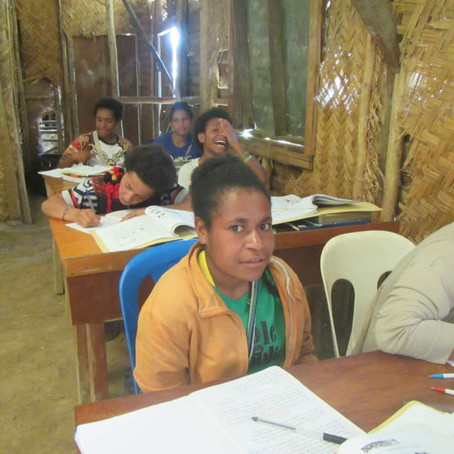 The Oksapmin Secondary School in Papua New Guinea