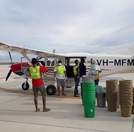 A COVID-19 related flight in Timor-Leste