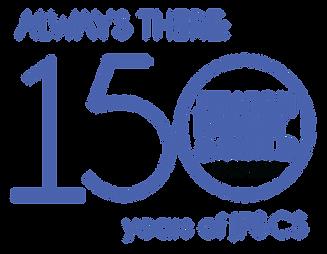 JF&CS 150 anniversary event logo