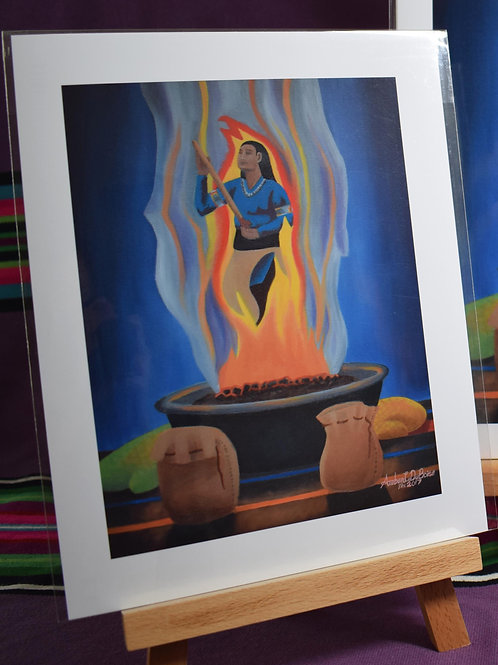 Sending Prayers Through The Fire | Medium Print