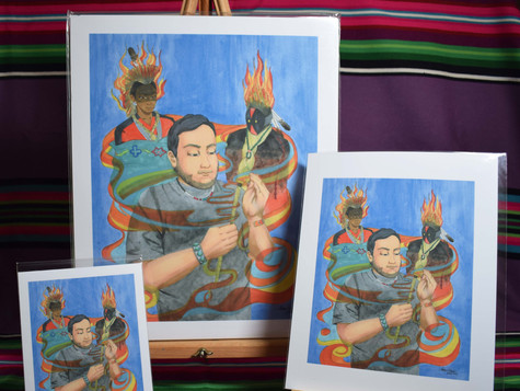 Blessing from the Sweetgrass Manitou and Yei PRINTS