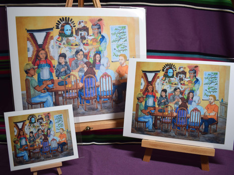 Family, Stew, Frybread, and Blessings From The Holy Ones PRINTS