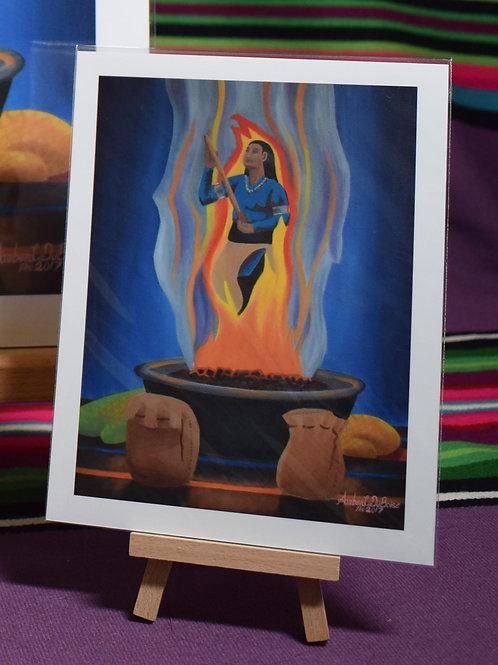 Sending Prayers Through The Fire | Small Prints