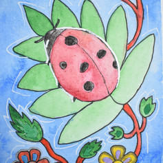 Woodland Flower Lady Bug