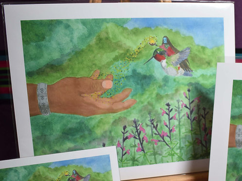 A Blessing from the Hummingbird | Large Print