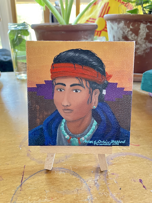 Young Navajo Boy | Tiny Painting