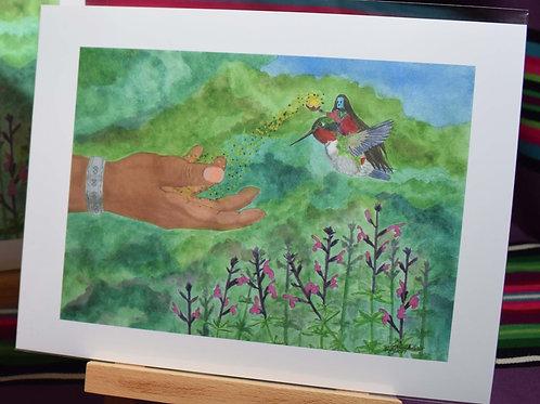 A Blessing from the Hummingbird | Medium Print