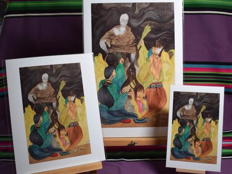 Sage and Cedar Shielding from Chíídíí Matchi Manitou (Evil Spirit) PRINTS