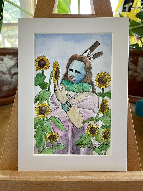 Sunflower and Yei | Watercolor Painting