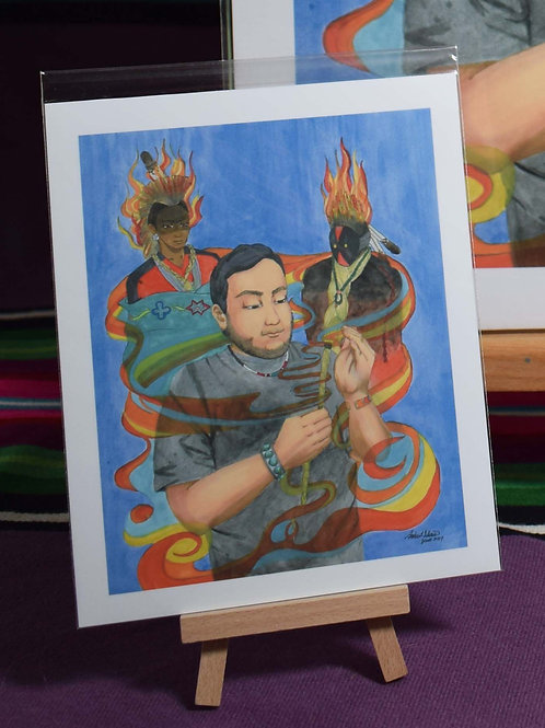 Blessing from the Sweetgrass Manitou and Yei | Small Print