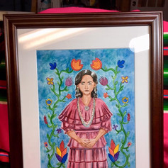 Potawatomi Woman and Her Flowers