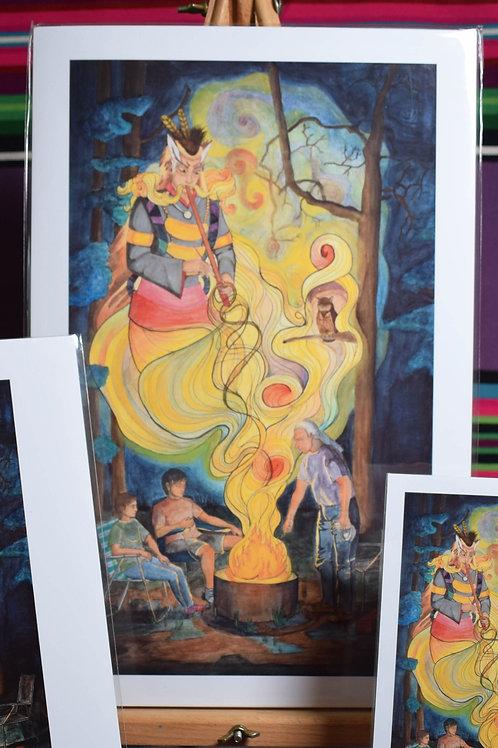 Visit FromThe Wî Te Kô (Owl) | Large Print