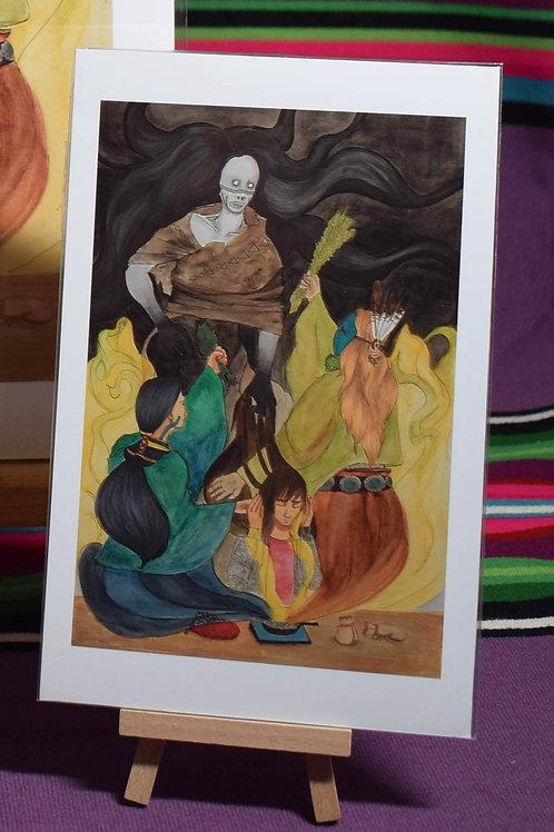 Sage and Cedar Shielding from Chíídíí Matchi Manitou (Evil Spirit) | Small Print