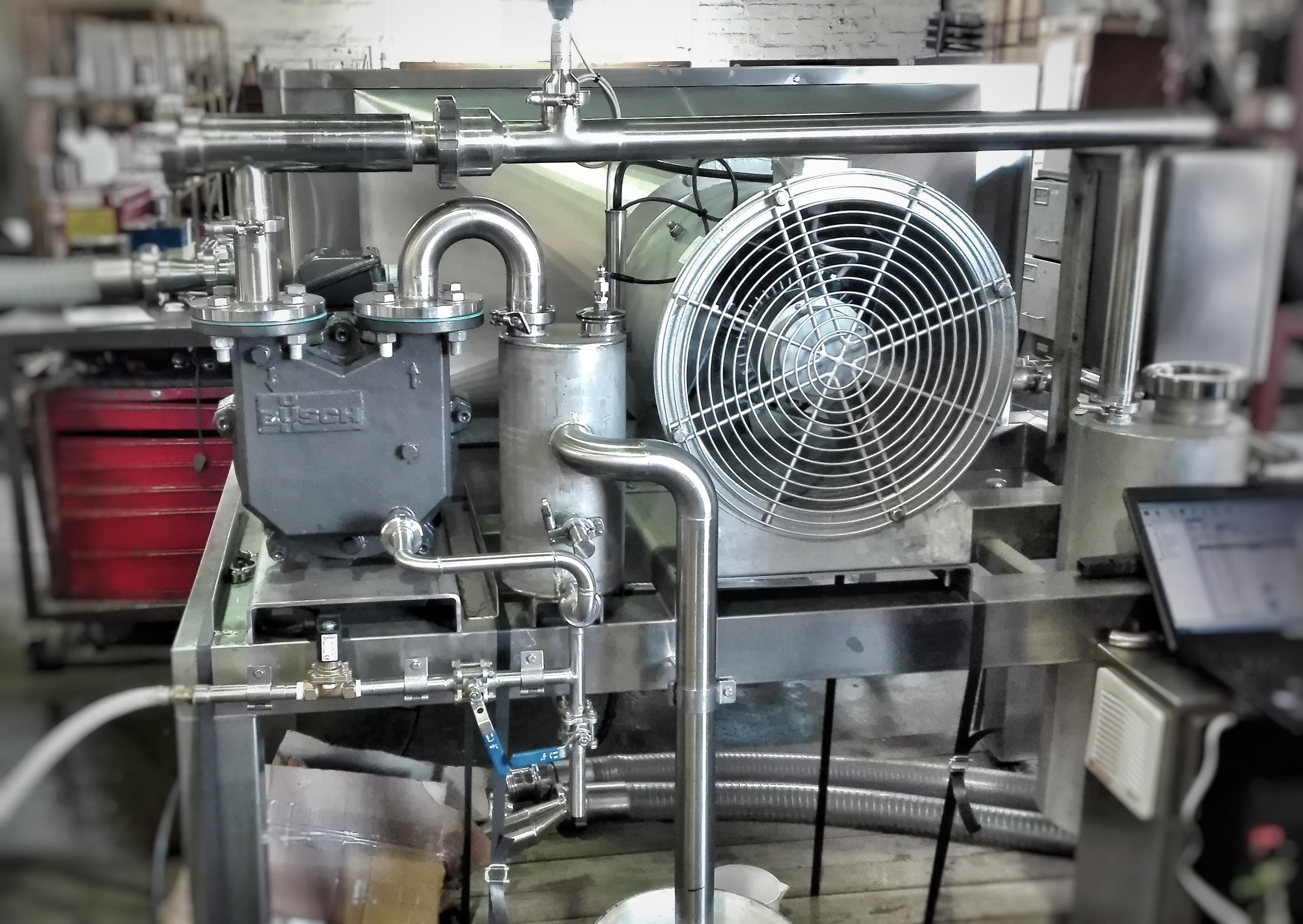Vacuum cooling unit