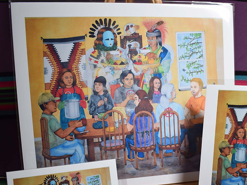 Family, Stew, Frybread, and Blessings From The Holy Ones | Large Print