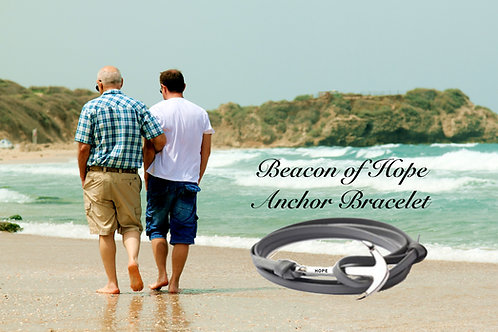 Beacon of Hope Survival Bracelet- Leather
