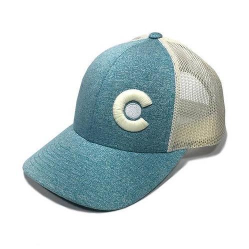 Kokimo Colorado Trucker Hat - Teal Heather / Birch