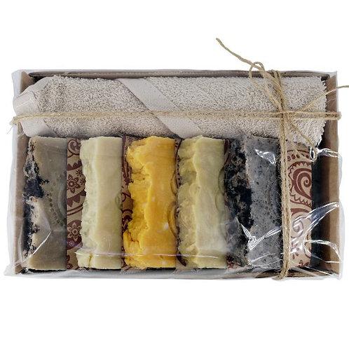 Натуральное мыло ручной работы «Подарочный набор 5 сортов» • 5х100 г