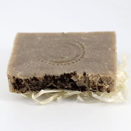 Натуральное мыло ручной работы «Чага, бергамот и розмарин» • 100 г