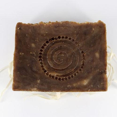 Натуральное мыло ручной работы «Дегтярное с чагой и мухомором» • 100 г