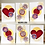 Thumbnail: HEARTS AND FLOWERS GREETING CARD TRIO