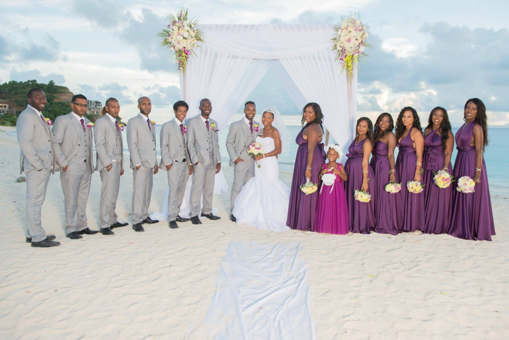 Beach wedding Antigua
