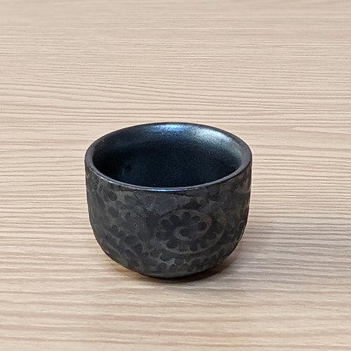 Ceramic sake cup dark grey