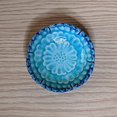 Piattino in ceramica fiore