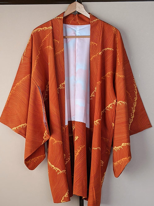 Orange Silk Haori