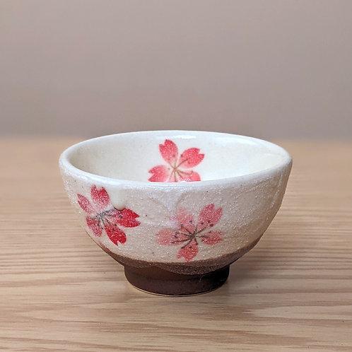 Ceramic sake cup sakura