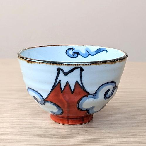 Ceramic bowl M. Fuji red