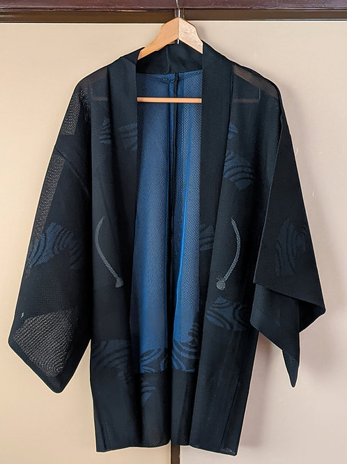 Summer Haori black&blue