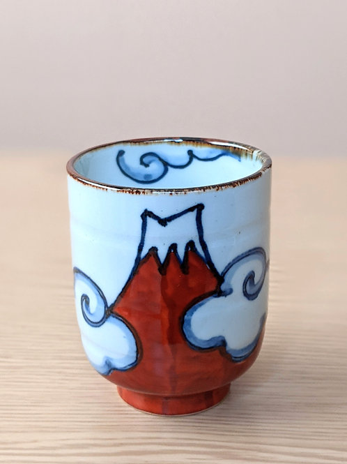 Tazza da tè in ceramica M. Fuji rossa