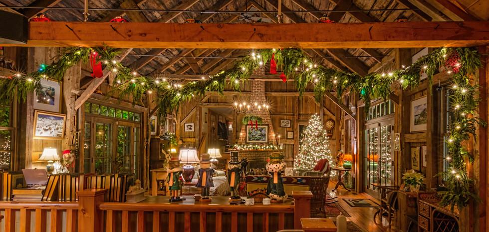 Restored Barn at Christmas