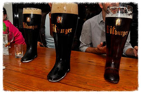 Beer Boots on table