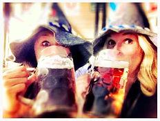 Ladies drinking beer